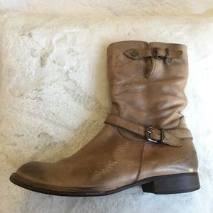 Alberto Fermani Leather Ankle Boot 38